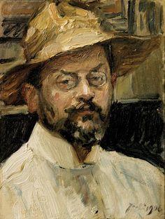 Selbstbildnis mit strohhut Max Slevogt (German,1868-1932)