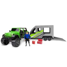 Adventure Force Jeep With Toy Hauler Coral Curtains, Ford Bronco For Sale, Truck Flatbeds, Toy Hauler, Toy Trucks, Cool Toys, Jeep, Walmart, Adventure