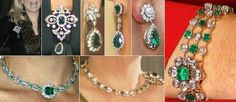 Brooches, Earrings and Bracelet from the Dutch Emerald Parure.