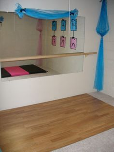 ballet bar in bedroom | ... ballet bar for dance practice and a gym mat for our little gymnastics