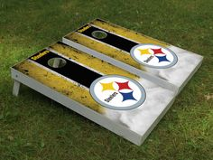 Pittsburgh Steelers Cornhole boards by Cornholetherapy on Etsy
