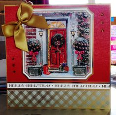 (146) Christmas Card (8ins x 8ins) makings from Hunkydory