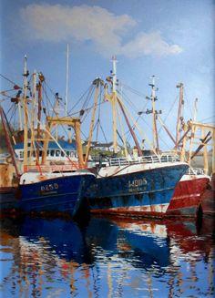 Wexford trawlers.Oils. L Gibney.