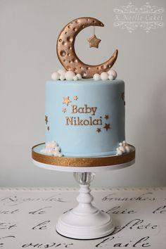 Twinkle Twinkle Little Star Baby shower cake by K Noelle Cakes
