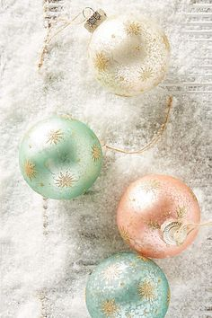 Sparkling Star Ornament Set