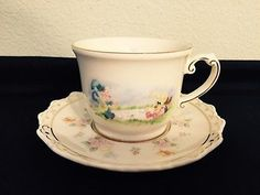 Disney Parks Mad Hatter March Hare Tea Cup And Saucer Alice in Wonderland Theme
