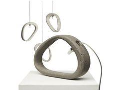 ''Aretha'' concrete lamp