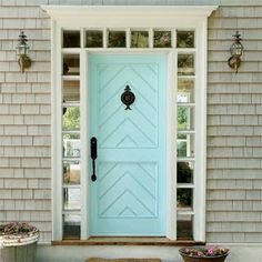 Dwellers Without Decorators: Blue Painted Front Door Inspiration, sherwin williams candid blue