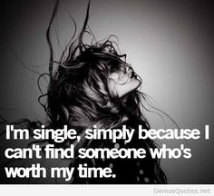 Im single girl quote