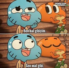 Darwin Gumball, World Of Gumball, Girl Photo Poses, Funny Comedy, Vintage Cartoon, Meaningful Words, Memes, Emoji, Sad