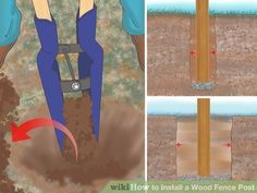 Image titled Install a Wood Fence Post Step 4