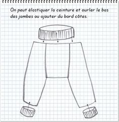 tuto sarouel récup' - Zygzag Sewing Patterns For Kids, Sewing Projects For Kids, Sewing For Kids, Baby Sewing, Baby Patterns, Harem Pants Pattern, Sewing Magazines, Baby Couture, Baby Kids Clothes