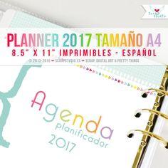 2017 Planificador Español  Páginas en formato A4 por ScrapStudioES