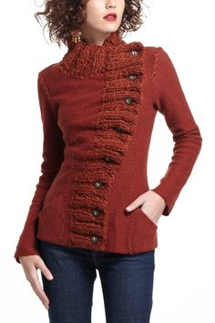 Transverse Placket Sweater from Anthro