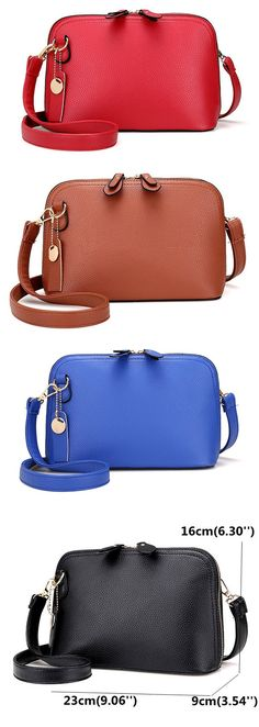US$13.48 Women PU Leather High-end Shells Crossbody Bag Shoulder Bag