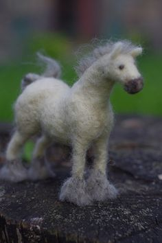 Needle felted horse sculpture