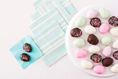Hop to It and Make These Ghirardelli Dipped Peanut Butter Easter Eggs via Brit + Co.
