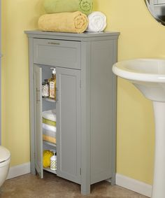 Portland white narrow storage bathroom cabinet. A four drawer free ...
