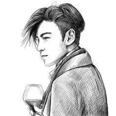 Kpop Drawings, Top Bigbang, Choi Seung Hyun, Waiting For Him, Queen Of Hearts, See You, Learn To Draw, Selena, The Outsiders