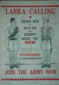 Ceylon Vintage Wartime Poster