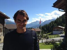 Roger Federer on his birthday,which is August 8,1981.