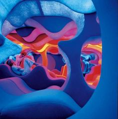 The exhibition underway at Vitra Design Museum Gallery features a lifesized reconstruction of Verner Panton?s 1970 Phantasy Landscape. in News Design. Awesome Bedrooms, Cool Rooms, Coolest Bedrooms, My New Room, My Room, Pantone, Vitra Design Museum, Chill Room, Relax Room