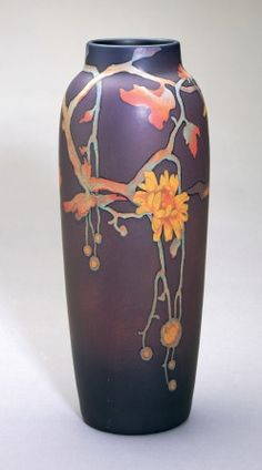 Vase, The Rookwood Pottery Company (American, est Harriet Elizabeth Wilcox decorator, earthenware, Painted Mat In click now to see more. Roseville Pottery, Pottery Vase, Ceramic Pottery, Thrown Pottery, Slab Pottery, Art Nouveau, Glass Ceramic, Ceramic Art, Ceramic Bowls