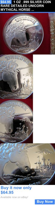 Bullion: 1 Oz .999 Silver Coin Rare Detailed Unicorn Mythical Horse Engravable + Gold BUY IT NOW ONLY: $64.95