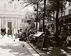 parisian+cafes+photos   Paris Cafe Print - Tabac de la Sorbonne - Black and White Paris ...