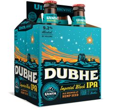 Uinta Brewing Co. Dubhe Imperial Black IPA 12oz. 4-pack - designed by Emrich Office