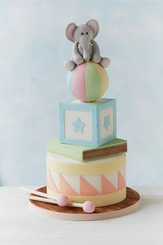 Cute Baby Shower Cake - Structure Structure Structure