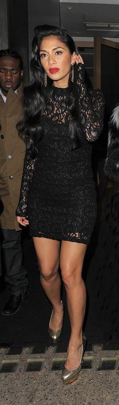 Nicole Scherzinger leaving restaurant Nobu in Mayfair, London.