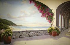 Mediterranean Trompe L'Oeil Mural