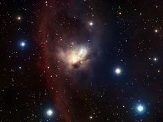 The delicate nebula NGC 1788, located in a dark and often neglected corner of the Orion constellation, is revealed in this finely nuanced image. Although this ghostly cloud is rather isolated from Orion's bright stars, their powerful winds and light have a strong impact on the nebula, forging its shape and making it a home to a multitude of infant suns.