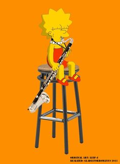 Lisa Simpson plays the bass clarinet Tracey Ullman, Bass Clarinet, Marching Band Humor, Music Memes, Nerd, Lisa Simpson, Musical Instruments, Musicals, Geek Stuff