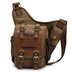 AE609 Men Vintage Canvas Bumbag Hiking Travel Shoulder Fanny Pack Belt Waist Bag | eBay