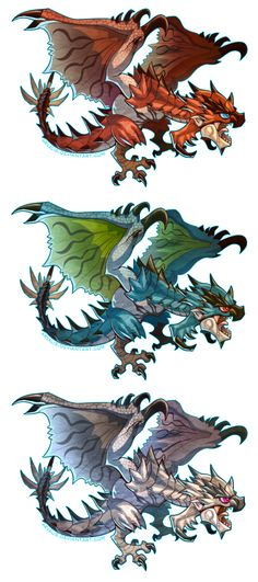 Rathalos Cuties by arvalis