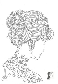 tattoo girl_adult coloring coloring pages for grown ups coloring book pages coloring pages for