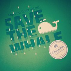 save the whale screen print