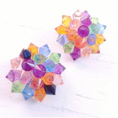 Check out this item in my Etsy shop https://www.etsy.com/listing/387433066/lucite-cluster-earrings-multi-color