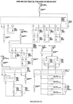 gmc truck wiring diagrams on gm wiring harness diagram 88 98 kc rh pinterest com Single Wire GM Alternator Wiring Diagram 1-Wire Alternator Wiring Diagram
