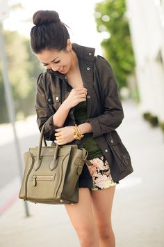 "I want that jacket og those shorts!!! From Wendy's Lookbook: ""Animal Garden :: Floral shorts """