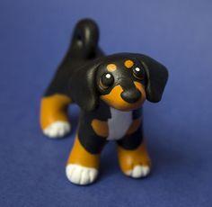Dachshund mix dog sculpture by SculpyPups.deviantart.com on @DeviantArt
