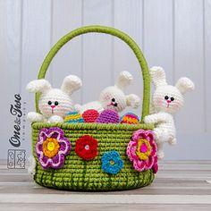 Little Bunnies Easter Basket pattern by Carolina Guzman