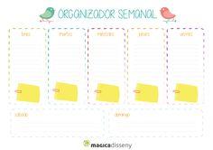 organizador imprimible - Buscar con Google