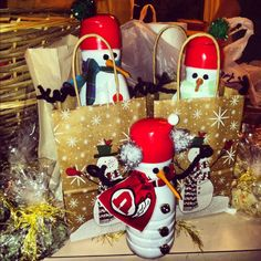 Holiday treats made out of coffee creamer containers!
