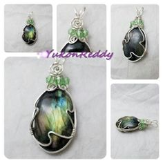 Labradorite in sterling silver with swarovski crystal accents.