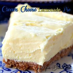 Cream Cheese Lemonade Pie ~ In small bowl beat together 5 oz can evaporated milk. Cream Cheese Lemonade Pie ~ In small bowl beat together 5 oz can e Pudding Desserts, No Bake Desserts, Easy Desserts, Delicious Desserts, Yummy Food, Cream Cheese Lemonade Pie, Cream Cheese Pie, Cheese Pies, Cream Pies