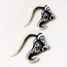 Acrylic gauged elephant earrings Lightweight earrings for 6mm gauges. Maybe worn once. Jewelry Earrings