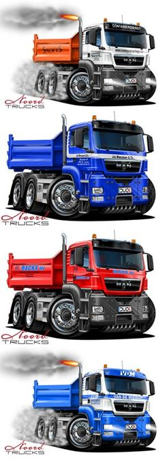 MAN cartoon trucks